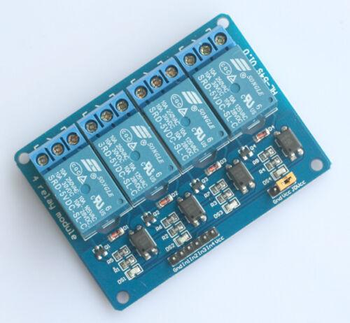 4 Kanal Relais Modul 5V Relay Module Optokoppler PIC AVR Arduino Deutsche Post