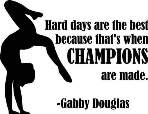 "GD 3 22x18/"" Large Gabby Douglas Vinyl Wall DecalGymnastic QuoteOlympics"