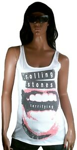 Satisfaction Shirt L Rolling Tank Amplified Top Vintage Lippe Terrifying Stones F1AawqIp