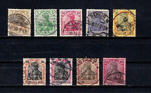 Germany stamps #66 - 74, used, short set, no 65c, 1902, SCV $11.80