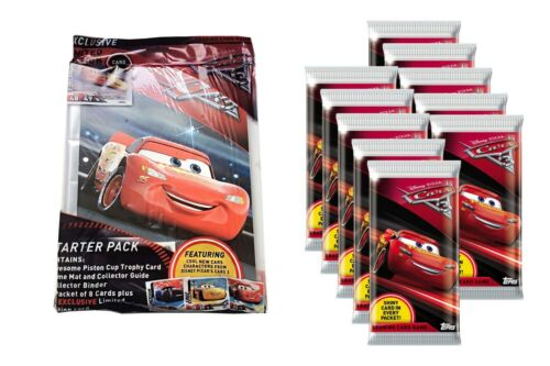 Topps Cars 3 Trading Cards Starter Pack box cards