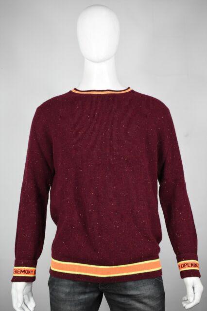 f80f5937b590 Opening Ceremony cashmere sweater M Medium new mens maroon crew neck ...