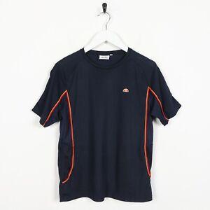 Vintage-Women-039-s-Ellesse-petite-Logo-Polyester-T-Shirt-Tee-Bleu-Marine-Medium-M