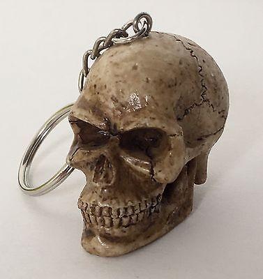 Skull Head Keychain Ring Skeleton Head Brown Bone Biker Skulls Motorcycle 6