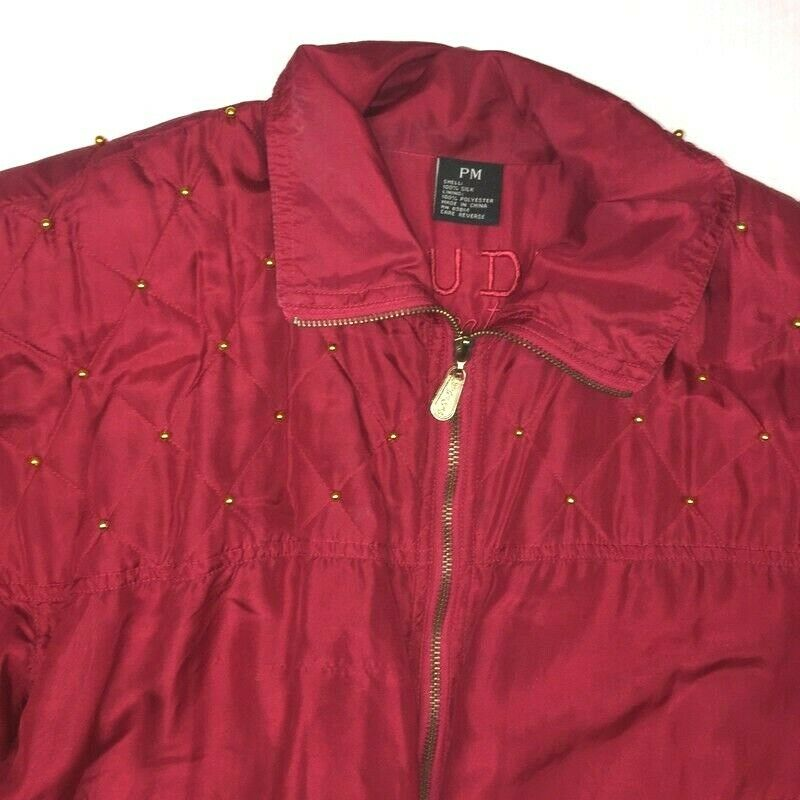 Fuda International Womens PM  Jacket Red Gold Sil… - image 3
