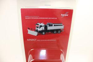 Herpa 013079 MiniKit MAN TGS M 6x6 Winterdienstfa<wbr/>hrzeug weiß 1:87 H0 NEU in OVP