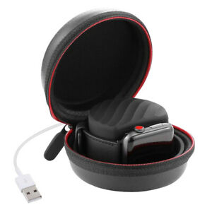 Charging-Stand-Dock-Case-Hard-Storage-Box-Bag-For-Apple-Watch-Airpods-Black