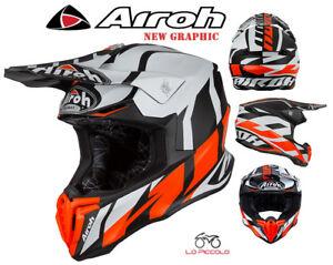 Airoh Casco MX Twist Colour Matt Nero