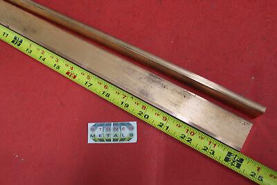 "1//4/""x 1-1//2/"" C110 COPPER BAR 22/"" long Solid Flat Bar .25/"" Mill Bus Bar Stock H02"