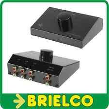 SELECTOR CONMUTADOR SWITCH AUDIO 3 ENTRADAS RCAS 1 SALIDA RCA Y VICEVERSA BD6485