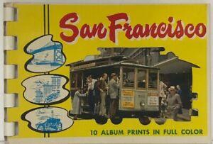Vintage-San-Francisco-California-10-Album-Print-in-Full-Color-Postcard-Book