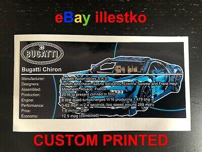 Sticker für Lego® Technik Bugatti Chiron 42083 precut Custom