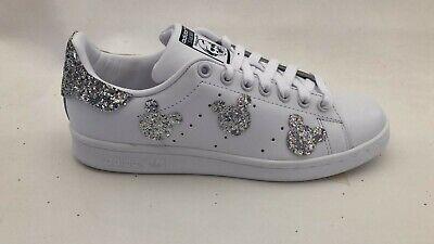 scarpe adidas stan smith personalizzate con glitter sul tacco e il topolino | eBay