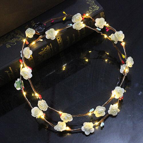 Party Kids Hair Garland Wreath Hair Flashing Flower Light Headbands Gifts Favors
