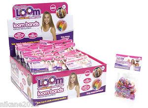 Loom BANDS BRACELET RAINBOW Enfants Rayures Paillettes Kit de recharge bandz  </span>