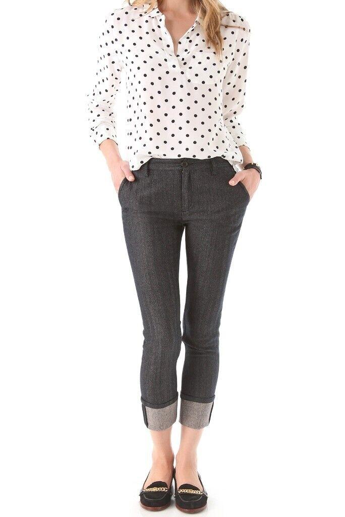MARC by MARC JACOBS Vanya Herringbone CUFFED Suiting PANTS Slim Fit WOOL 2  328