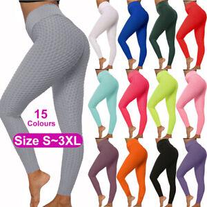 Womens Yoga Pants Push Up Leggings Sports Gym Fitness Anti Cellulite Butt Lift