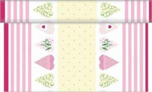 1-Tischlaeufer-Fenja-Creme-Rosa-aus-Linclass-Airlaid-40-cm-x-4-80-m-Tischband