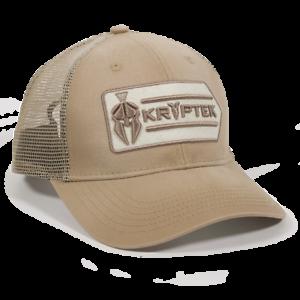 3e2a3e5229d Image is loading Kryptek-Logo-Mesh-Back-Hunting-Hat-Khaki-Trucker-