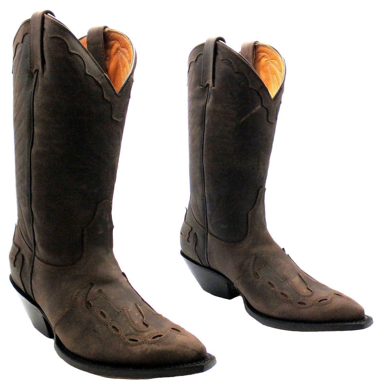 Grinders Grinders Grinders Arizona Cowboy Western Brown Leather Boots Knee High Boot 9b67b6