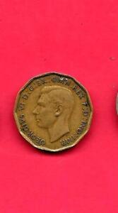 GREAT BRITAIN GB KM849  1938 VF-VERY F INE-NICE OLD VINTAGE WWII 3 PENCE COIN