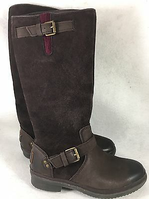 faaed7813a9 UGG THOMSEN 1005268 WATERPROOF TALL BOOTS LEATHER SUEDE Stout Brown size 5  | eBay
