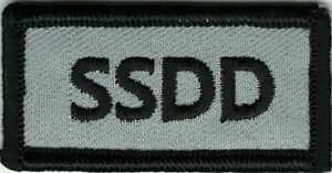 Gray Black SSDD Same Sh!t Different Day Patch VELCRO BRAND Hook Fastener