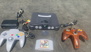 Nintendo 64 Console Original NTSC + Cords + 2 Controllers Mad Cats & OEM+ Game