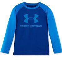 Under Armour Caspian Longsleeve Graphic Logo Shirt 4 Boys $23 Freeship