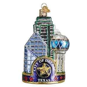 034-Dallas-City-034-20084-X-Old-World-Christmas-Ornament-w-OWC-Box