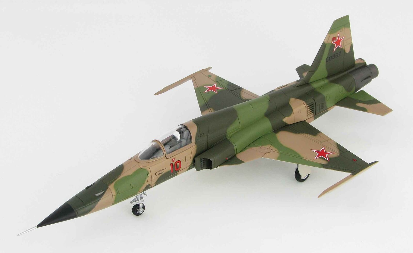 Hobby Master 3328 F-5E Tiger II 'rosso 10' 10' 10' USSR 1970s 1/72 Scale Diecast Model 48a8a7