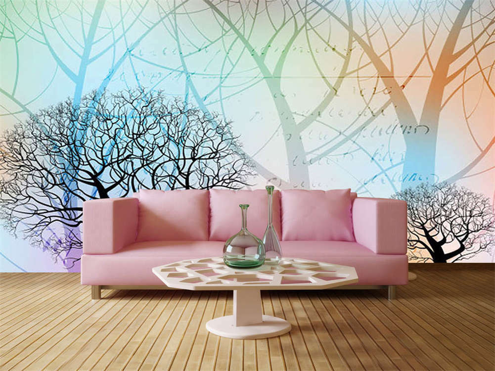 Farbeful Forest 3D Full Wall Mural Photo Wallpaper Printing Home Kids Decor