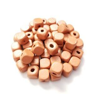 mixed colors hand cut wood cube beads 10x10mm cube wood beads mixed colors hand cut 10x10mm