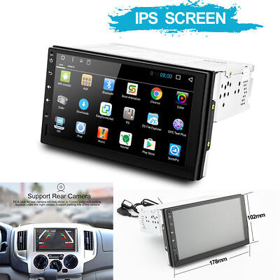 Universal 1DIN Android 7.1 Touch Auto GPS Radio Stereo Player FM//RDS//SWC//BT//Wifi