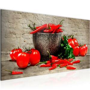 Details zu Bild Bilder Wandbild XXL - 100x40 cm Küche - Kunstdruck Leinwand  Vlies - Wohnung