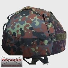 TACGEAR BW Helm Bundeswehr German Army Flecktarn Helmbezug Helmet cover SM