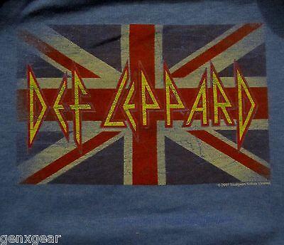DEF LEPPARD cd cvr UNION JACK FLAG Official Baby ONE PIECE Shirt 12 Months New