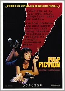 Pulp Fiction Classic Movie Large Poster Art Print Maxi A0 A1 A2 A3