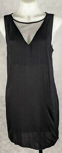 Glassons Women's Dress Size 8 Black Sleeveless Mesh Invisible Side Zip
