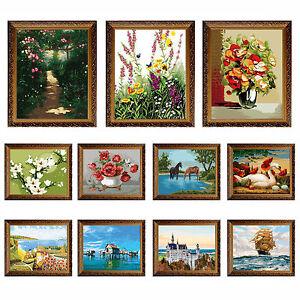 16 x20 no frame diy paint by number kit on canvas 11 designs oil painting ebay. Black Bedroom Furniture Sets. Home Design Ideas