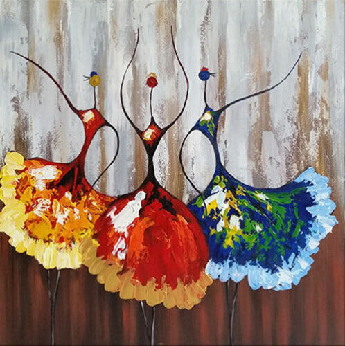 LMOP1115 abstract modern dancing handmade painted oil painting art on canvas
