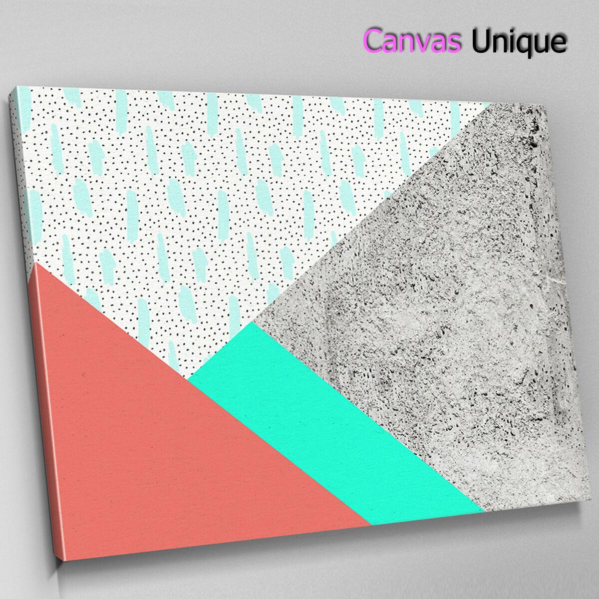 AB1690 grau rot Blau minimalist Abstract Canvas Wall Art Framed Picture Print