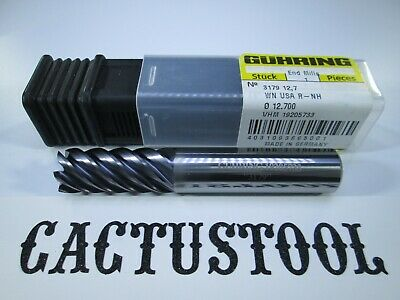 """HELICAL CARBIDE 1//2/"""" END MILL 7 FLUTE MILLING EDP 24332 TITANIUM HARD STEEL TOOL"""