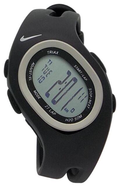 0c93418dfeb Nike Triax S 27 Regular WR0065 001 Black Sterling Sport Fitness Runners  Watch