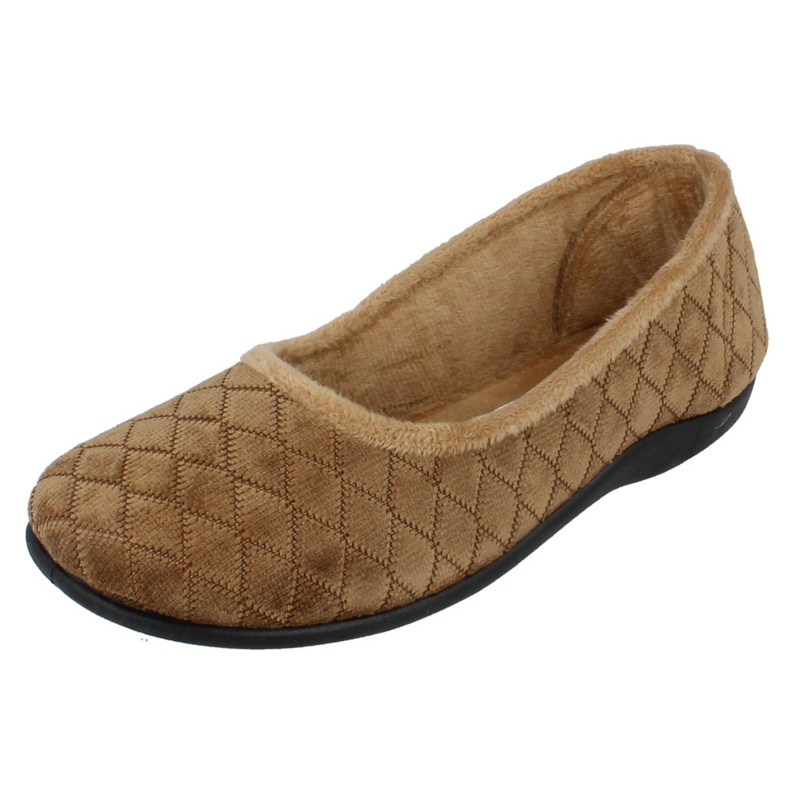 Mujer Carol Brown Diamante por sin Cordones Zapatillas por Diamante 'Sleephhh' c75f08