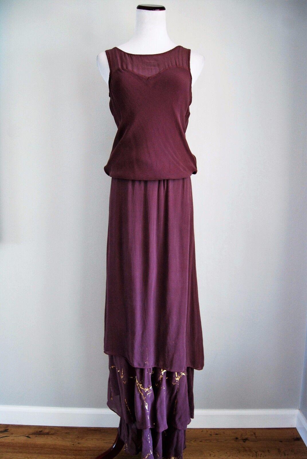 damen Contemporary Gypsy 05 lila Maxi Dress Größe XS