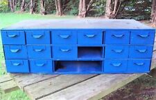 Steel 18 Drawer Card File Cabinet 3 Drawers Missing
