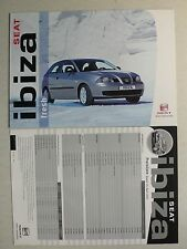 Prospekt Seat Ibiza Fresh, 5.2003, 6 Seiten, folder  + Preisliste