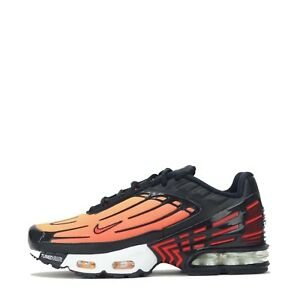 Details about Nike Air Max Plus III 3 Tuned Junior Trainers Shoes Black, Orange