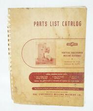 Cincinnati Milling Machines Parts List Catalog Vertical Vercipower 1964 Vintage
